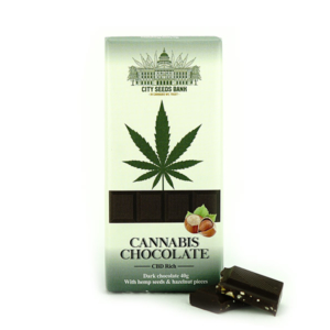 Cannabis Chocolate Dark con Nocciole 40g